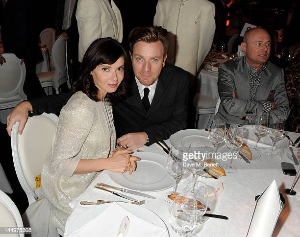 Eve Mavrakis actor Ewan McGregor and CEO of IWC Schaffhausen Georges Kern attend the IWC and Finch's Quarterly Review Annual Filmmakers Dinner at...