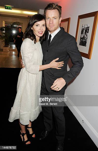 Eve Mavrakis and actor Ewan McGregor attend the IWC and Finch's Quarterly Review Annual Filmmakers Dinner at Hotel Du CapEden Roc on May 21 2012 in...