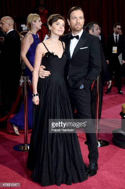 Eve Mavrakis and actor Ewan McGregor attend the Oscars held at Hollywood Highland Center on March 2 2014 in Hollywood California