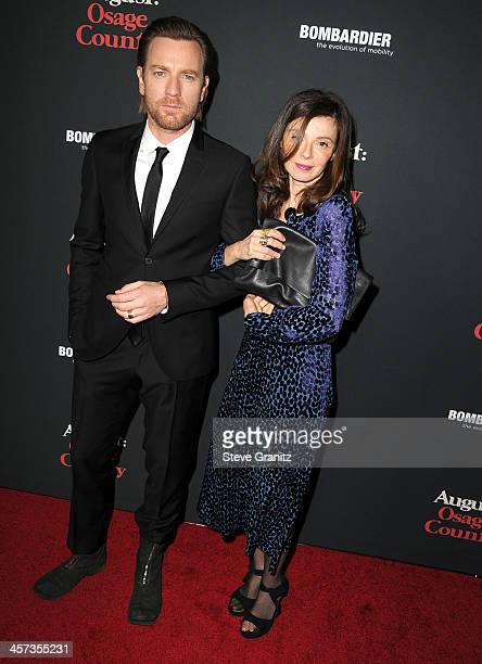 Eve Mavrakis and Ewan McGregor arrives at the 'August Osage County' Los Angeles Premiere at Regal Cinemas LA Live on December 16 2013 in Los Angeles...