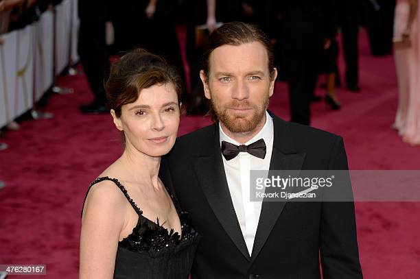 Eve Mavrakis and Ewan McGregor attend the Oscars held at Hollywood Highland Center on March 2 2014 in Hollywood California