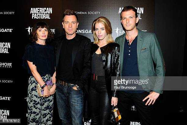Eve Mavrakis Ewan McGregor Clara McGregor attend Lionsgate and Lakeshore Entertainment with Bloomberg Pursuits Host a Screening of 'American...