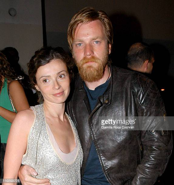 Eve McGregor and Ewan McGregor during 'The Long Way Round' Ewan McGregor's After Party at The Maritime Hotel in New York City New York United States