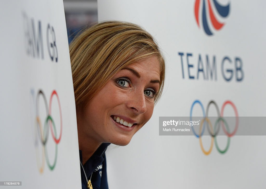 Eve Muirhead attends a press conference to announce they have been selected for the Team GB Curling team for the Sochi 2014 Winter Olympic Games at...