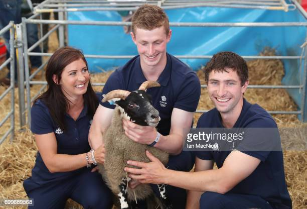 Eve Muirhead Thomas Muirhead and Glen Muirhead pose for photographs at The Royal Highland show after being amongst the first athletes selected to...