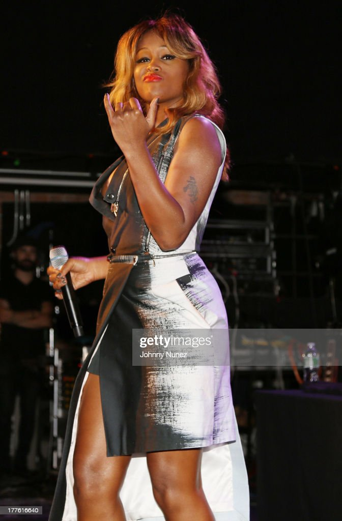 Eve performs during Perez Hilton's One Night In Brooklyn at Music Hall of Williamsburg on August 24, 2013 in New York City.