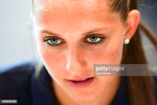 Eve Perisset of France during the France women's press conference at Centre National du Football on June 22 2017 in Clairefontaine France