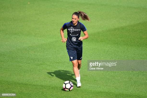 Eve Perisset of France during the France women's training session at Centre National du Football on June 22 2017 in Clairefontaine France