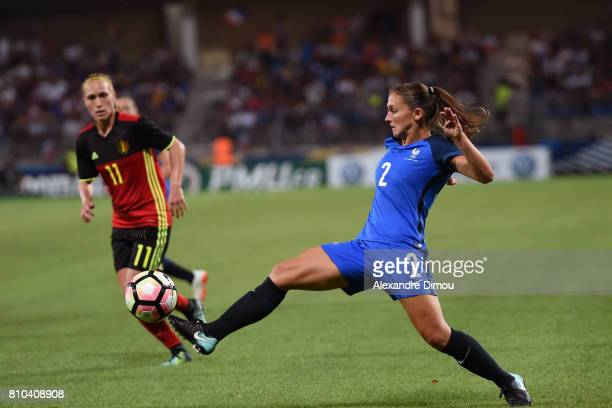 Eve Perisset of France during the international women's friendly match between France and Belgium at Stade de la Mosson on July 7 2017 in Montpellier...