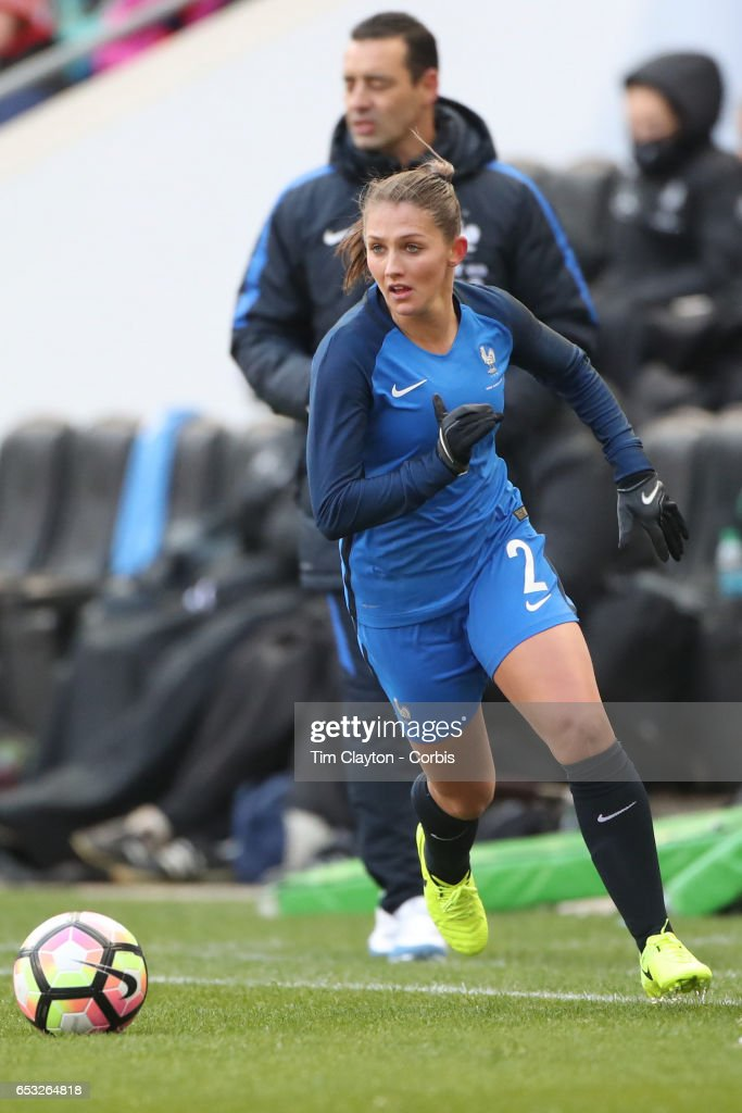 Eve Perisset #2 of France in action during the France Vs Germany SheBelieves Cup International match at Red Bull Arena on March 4, 2017 in Harrison, New Jersey.
