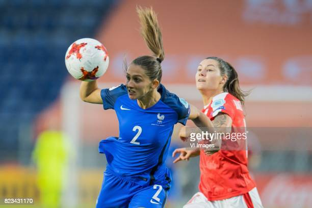 Eve Perisset of France women Ramona Bachmann of Switzerland women during the UEFA WEURO 2017 Group C group stage match between Switzerland and France...