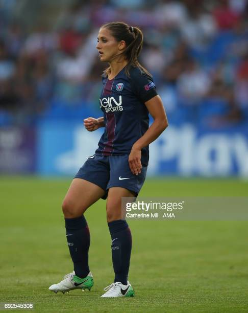 Eve Perisset of PSG during the UEFA Women's Champions League Final match between Lyon and Paris Saint Germain at Cardiff City Stadium on June 1 2017...