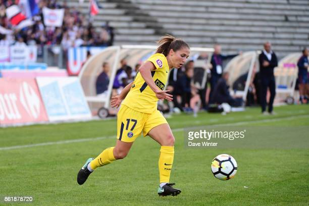 Eve Perisset of PSG during the women's Division 1 match between Paris FC and Paris Saint Germain on October 15 2017 in Paris France