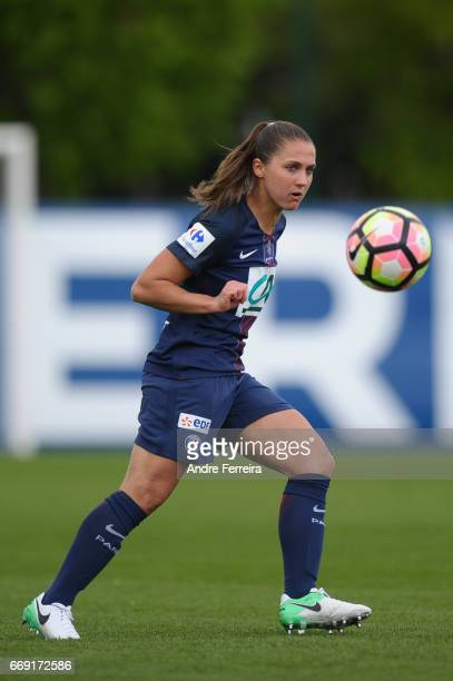 Eve Perisset of PSG during the women's National Cup match between Paris Saint Germain PSG and AS Saint Etienne at Camp des Loges on April 16 2017 in...