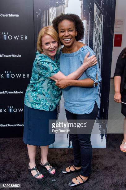 Eve Plumb and Amber Ruffin attend 'The Dark Tower' New York premiere on July 31 2017 in New York City