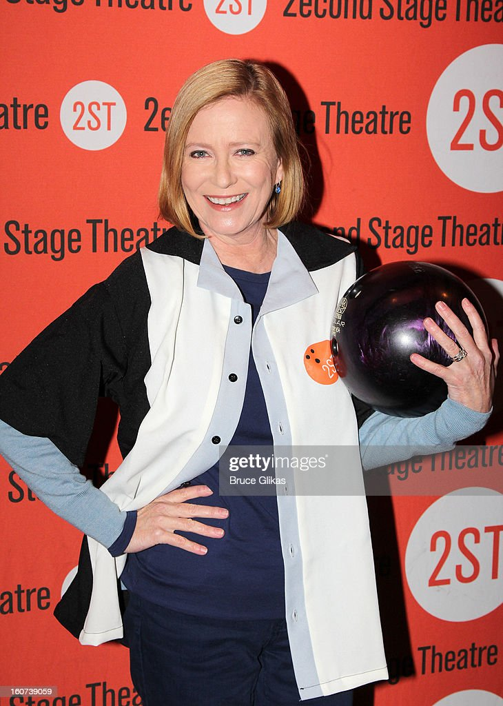 Eve Plumb poses at Second Stage Theatre's 26th Annual All-Star Bowling Classic at Lucky Strike on February 4, 2013 in New York City.