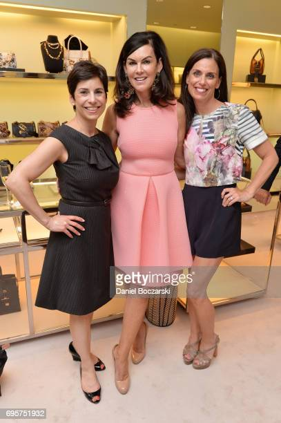 Eve Rogers Liz Ryan and Andrea Garber attend Prada Chicago x University Of Chicago Cancer Research Foundation Event at Prada Chicago on June 13 2017...