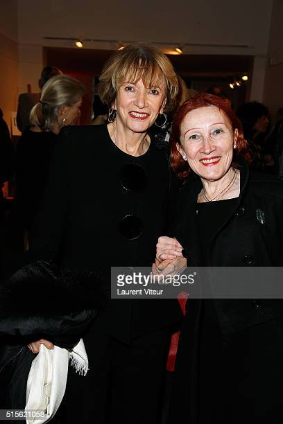 Eve Ruggieri and Elizabeth Cooper attend has the signature of the book 'Espace Cardin' by JeanPascal Hesse at Espace Pierre Cardin on March 14 2016...