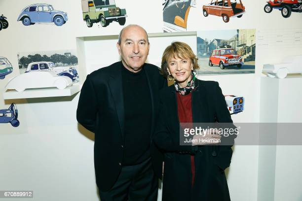 Eve Ruggieri and her husband Rachid Khimoune attend 'Auto Photo' Exhibition Preview at Fondation Cartier on April 18 2017 in Paris France