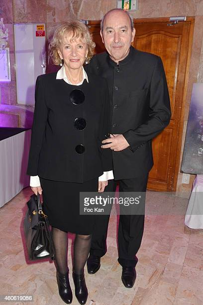 Eve Ruggieri and her husband sculptor Rachid Khimoune attend 'Chico and the Gypsies' Auction Concert To Benefit 'Entraide' Children Care Association...