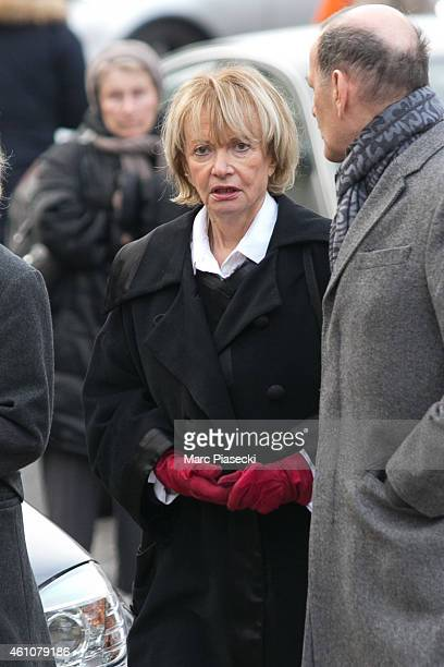 Eve Ruggieri arrives to attend the funeral of journalist Jacques Chancel at SaintGermaindesPres church on January 6 2015 in Paris France