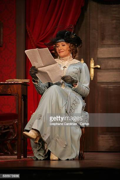 Eve Ruggieri as Baronness Duverger in the play 'Un Fil à la Patte' by Feydeau adapted by Olivier Minne and directed by Francis Perrin