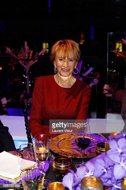 Eve Ruggieri attends 20th edition of ' Les Sapins de Noel des Createurs' Designer's Christmas Trees Auction to benefit Avec Foundation at Theatre des...