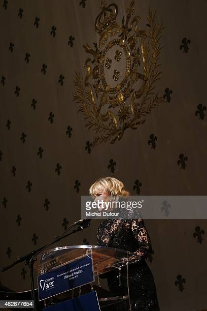 Eve Ruggieri attends the David Khayat 'Fondation Avec' Gala Dinner In Versailles on February 2 2015 in Versailles France