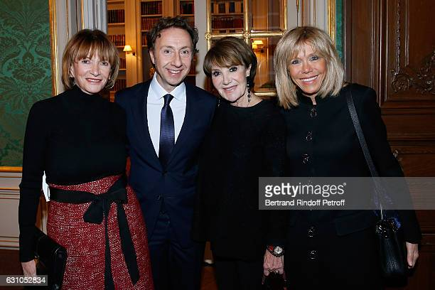 Eve Ruggieri Founder Stephane Bern Yaguel Didier and Brigitte Macron attend Stephane Bern's Foundation for 'L'Histoire et le Patrimoine Institut de...
