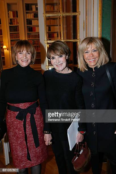 Eve Ruggieri Yaguel Didier and Brigitte Macron attend Stephane Bern's Foundation for 'L'Histoire et le Patrimoine Institut de France' delivers its...