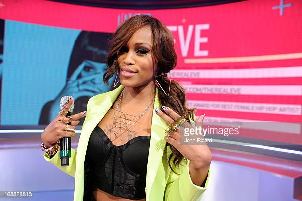 Eve visits BET's '106 Park' at BET Studios on May 15 2013 in New York City