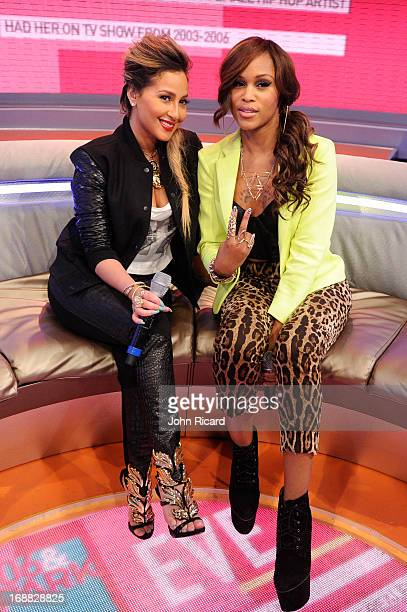 Eve visits BET's '106 Park' with Adrienne Bailon at BET Studios on May 15 2013 in New York City