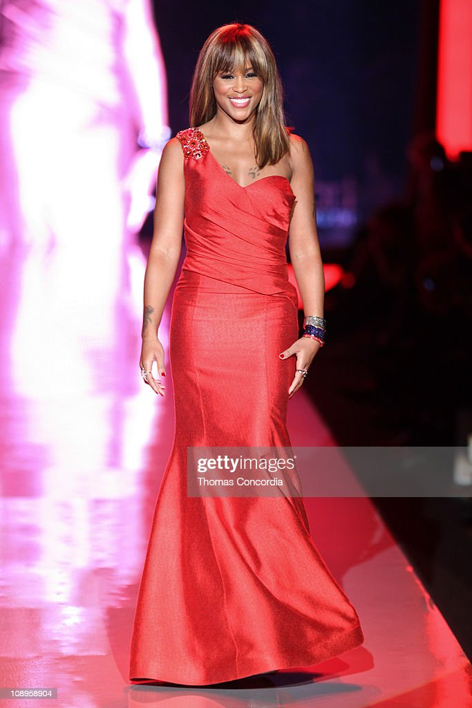 Eve wearing David Meister Signature at the The Heart Truth's Red Dress Collection fashion show during Mercedes-Benz Fashion Week Fall 2011 at Lincoln Center on February 9, 2011 in New York City.