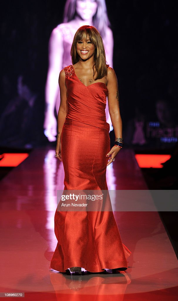 Eve wearing David Meister Signature walks the runway at the Heart Truth Fall 2011 fashion show during Mercedes-Benz Fashion Week at The Theatre at Lincoln Center on February 9, 2011 in New York City.