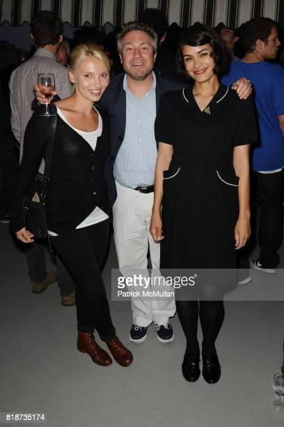 Eveliina Oboza Tony Ohaber and Shanon Sossamon attend Bret Easton Ellis to celebrate the publication of his new novel IMPERIAL BEDROOMS at Penthouse...