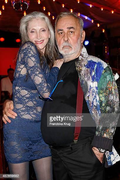 Eveline Hall and Udo Walz attend Udo Walz's 70th Birthday celebration at BAR jeder Vernunft on July 28 2014 in Berlin Germany