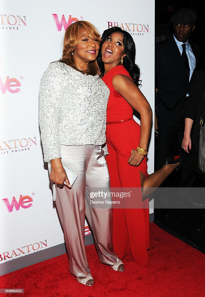 Evelyn Braxton and singer/TV Personality Toni Braxton attend the 'Braxton Family Values' Season Three premiere party at STK Rooftop on March 13, 2013 in New York City.