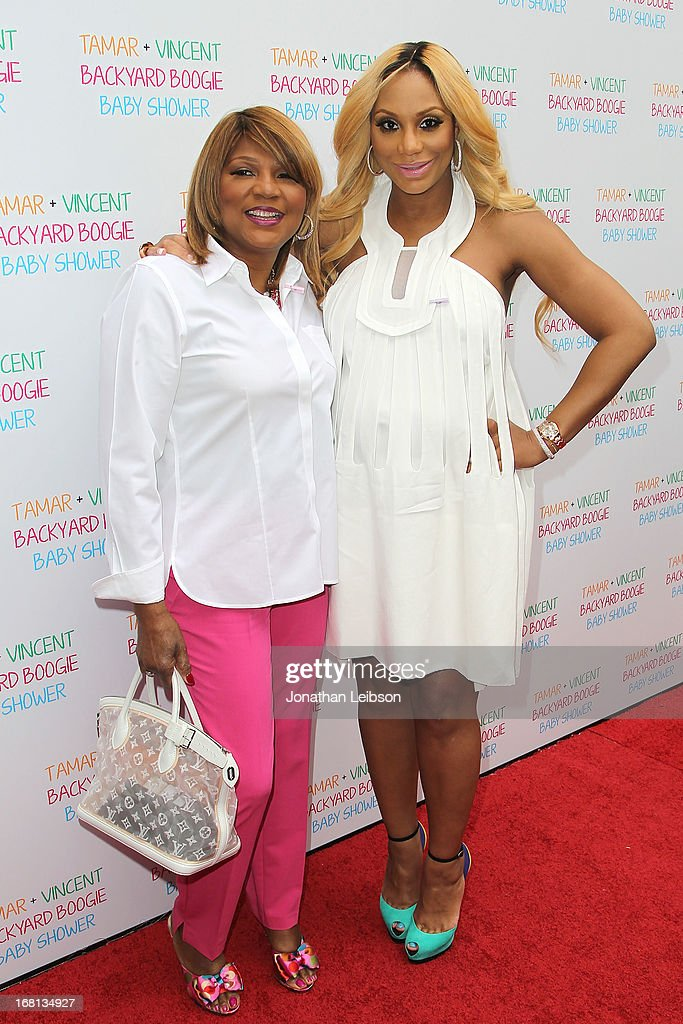 Evelyn Braxton and <a gi-track='captionPersonalityLinkClicked' href=/galleries/search?phrase=Tamar+Braxton&family=editorial&specificpeople=2079619 ng-click='$event.stopPropagation()'>Tamar Braxton</a> attend as <a gi-track='captionPersonalityLinkClicked' href=/galleries/search?phrase=Tamar+Braxton&family=editorial&specificpeople=2079619 ng-click='$event.stopPropagation()'>Tamar Braxton</a> hosts a carnival-themed baby shower with friends and family at Hotel Bel-Air on May 5, 2013 in Los Angeles, California.