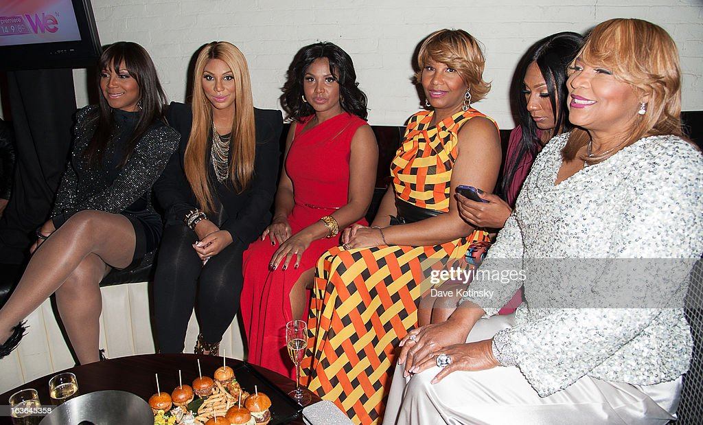 Evelyn Braxton, Tamar Braxton, Traci Braxton, Toni Braxton, Trina Braxton, and Towanda Braxton attends the 'Braxton Family Values' Season Three premiere party at STK Rooftop on March 13, 2013 in New York City.