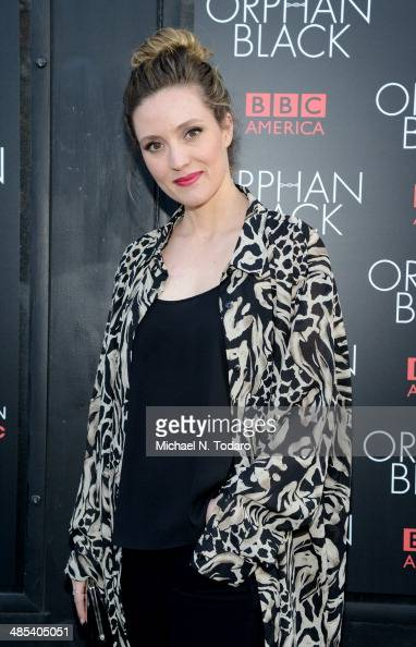 Evelyn Brochu attends the 'Orphan Black' premiere at Sunshine Cinema on April 17 2014 in New York City