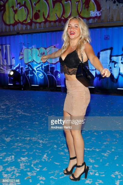 Evelyn Burdecki attends the finals of 'Promi Big Brother 2017' at MMC Studio on August 25 2017 in Cologne Germany