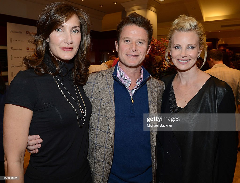 Evelyn Iocolano, of Lollipop, television personality Billy Bush and actress Monica Potter attend the Faconnable Kicks Off The Holidays Shopping Event Benefitting Lollipop Theater Network at Faconnable on November 13, 2012 in Beverly Hills, California.