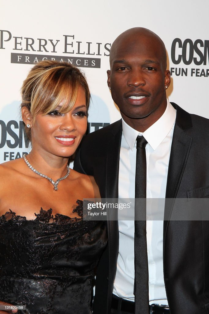Evelyn Lozada and Chad Ochocinco attend Cosmopolitan Magazine's Fun Fearless Males Of 2011 at The Mandarin Oriental Hotel on March 7, 2011 in New York City.