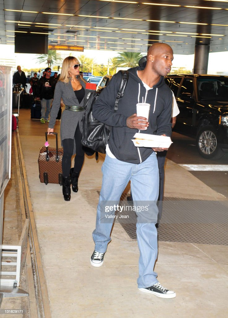 Evelyn Lozada and fiance Chad Ochocinco sighting at Miami International Airport on January 5, 2011 in Miami, Florida.