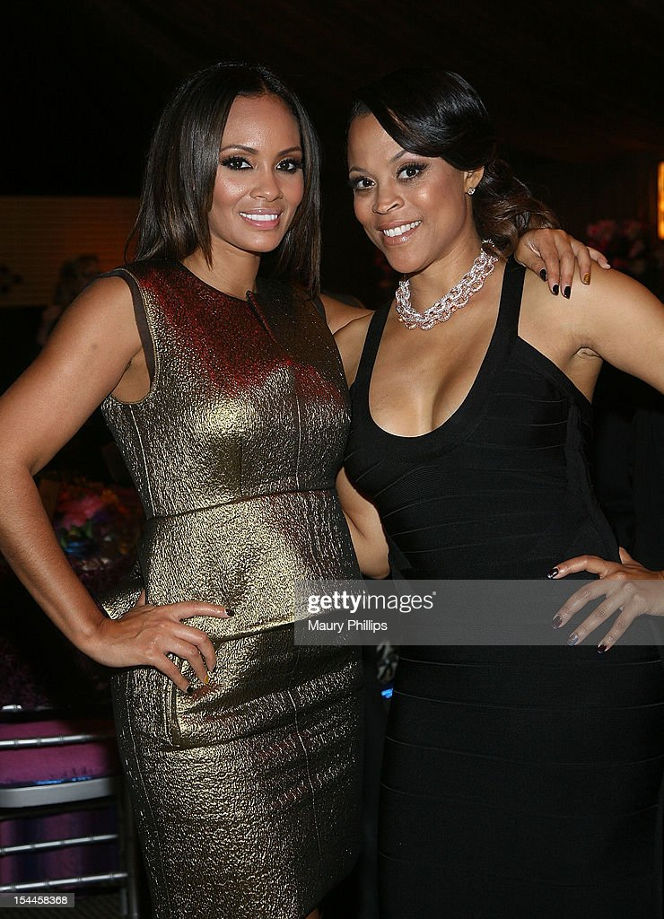 Evelyn Lozada and Shaunie O'Neal attend the Faithful Central Bible Church Event on October 19, 2012 in Century City, California.