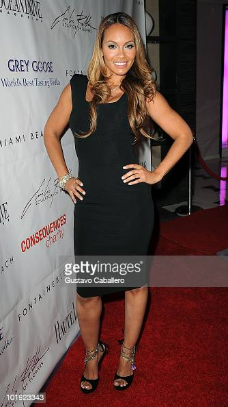 Evelyn Lozada attends the 15th Annual Blacks' Charity Gala at Fontainebleau Miami Beach on February 27 2010 in Miami Beach Florida