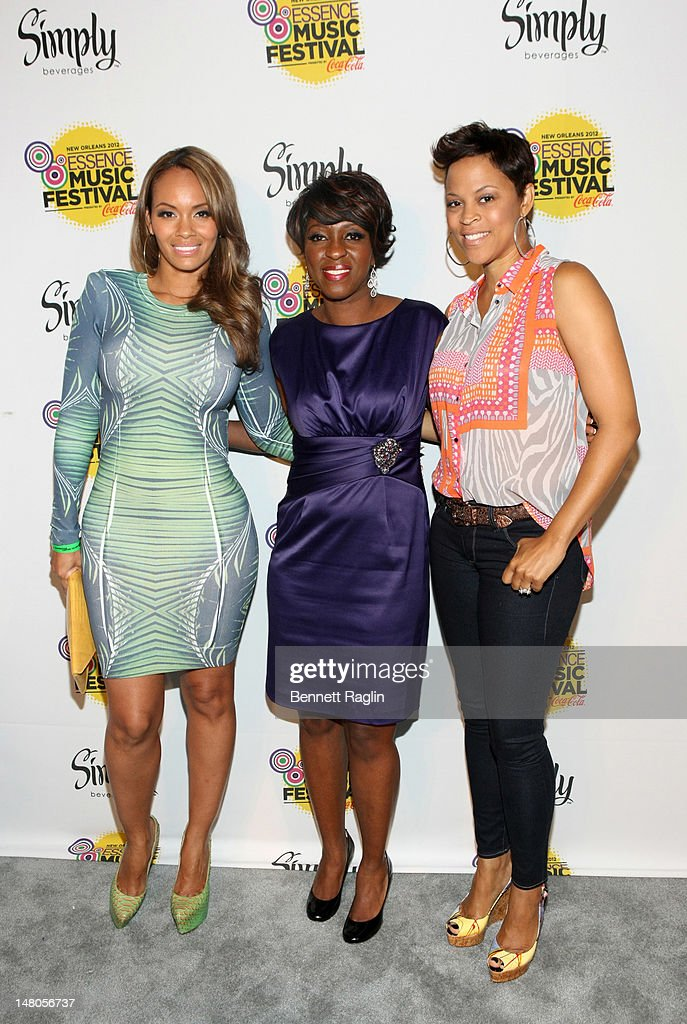Evelyn Lozada, Cheryl Willis, and Shaunie O'Neal attend the 2012 Essence Music Festival at Ernest N. Morial Convention Center on July 8, 2012 in New Orleans, Louisiana.