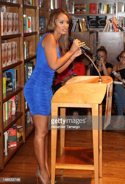 Evelyn Lozada greets fans and signs copies of her book 'Inner Circle' at Books and Books on June 18 2012 in Coral Gables Florida