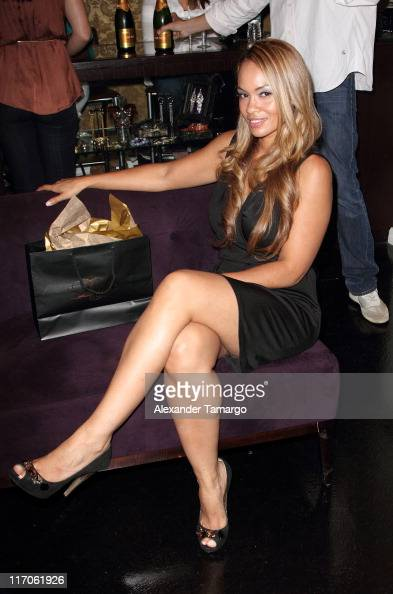 Evelyn Lozada is seen at Dulce Shoe Boutique on May 6 2010 in Coral Gables Florida