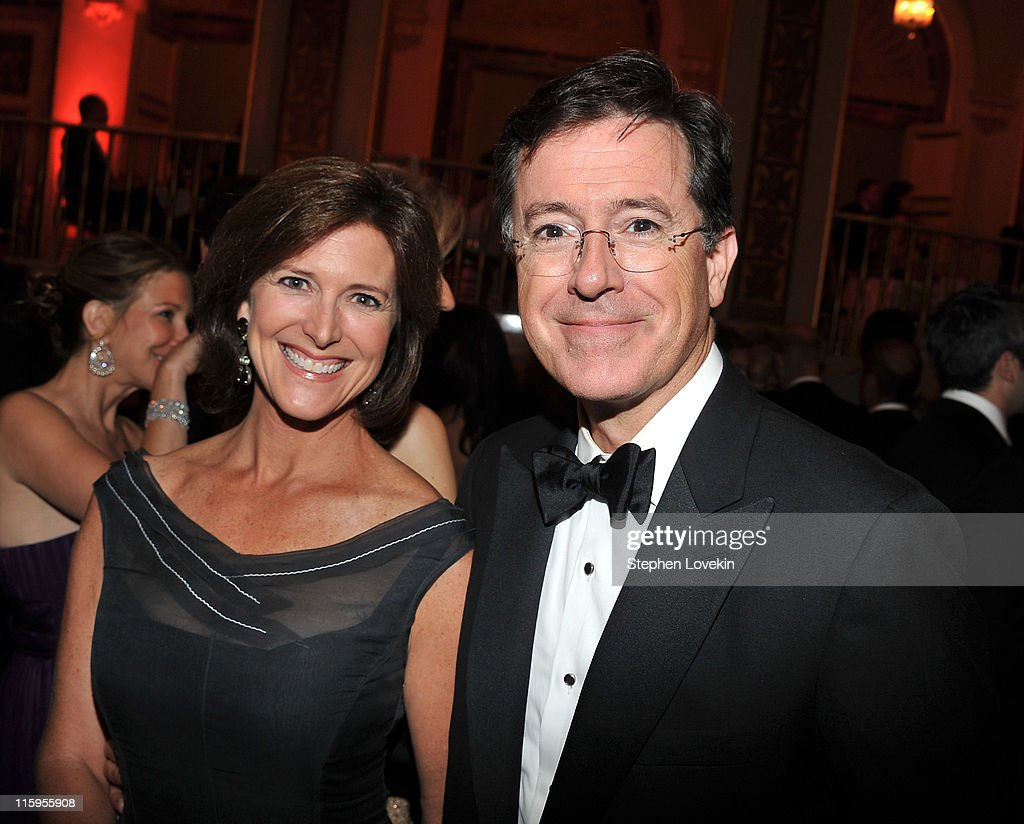 Evelyn McGee-Colbert and <a gi-track='captionPersonalityLinkClicked' href=/galleries/search?phrase=Stephen+Colbert&family=editorial&specificpeople=215133 ng-click='$event.stopPropagation()'>Stephen Colbert</a> attend the party following the 65th Annual Tony Awards on June 12, 2011 in New York City.